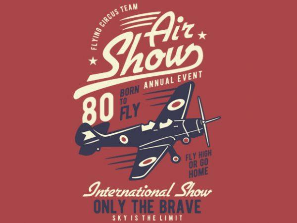 Air Show Airplane t shirt design
