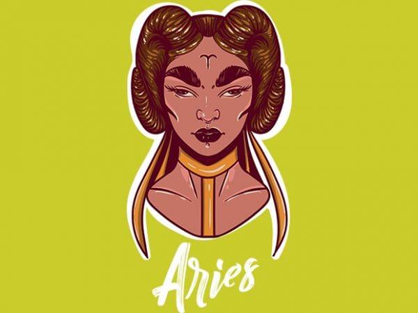 Aries t shirt vector