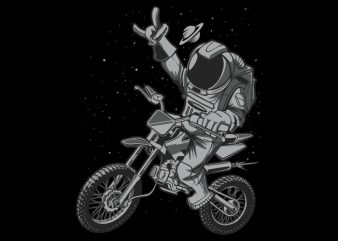 Astro Motocross vector t-shirt design template