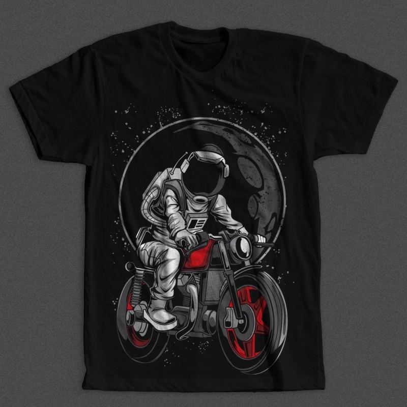 Astro Rider vector shirt designs