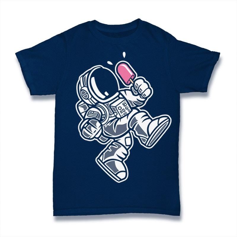 Astronaut Ice Cream t shirt designs for printify