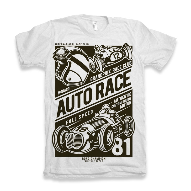 Auto Race t-shirt designs for merch by amazon