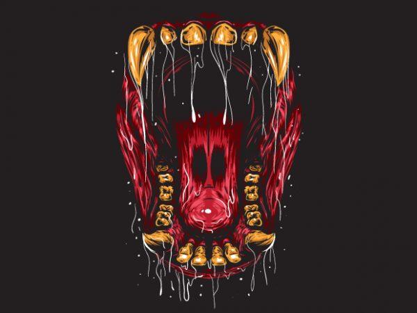 Beast Mouth – Gorilla t shirt template