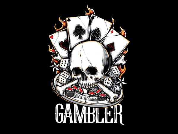 BTD 600x450 - Gambler T-Shirt Design buy t shirt design