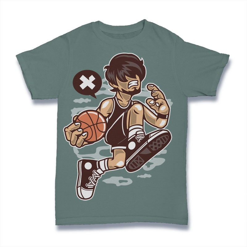 Basketball Player tshirt design for sale