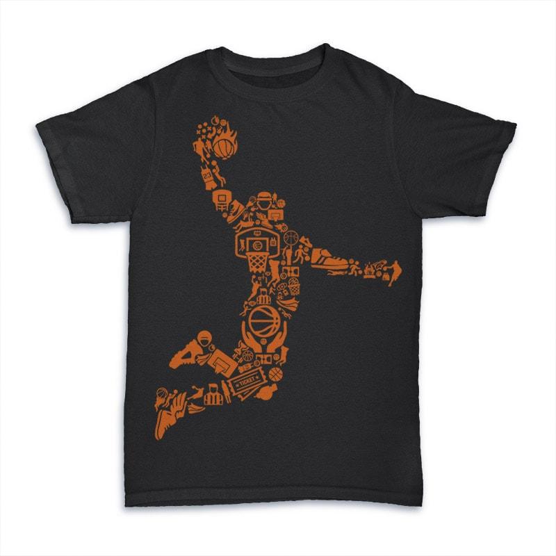Basketball Player vector t shirt design