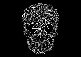 Bicycle Skull graphic t-shirt design
