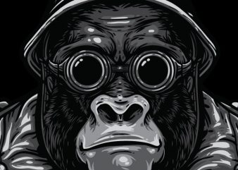 Big Bro – Gorilla Bikers vector t-shirt design for commercial use
