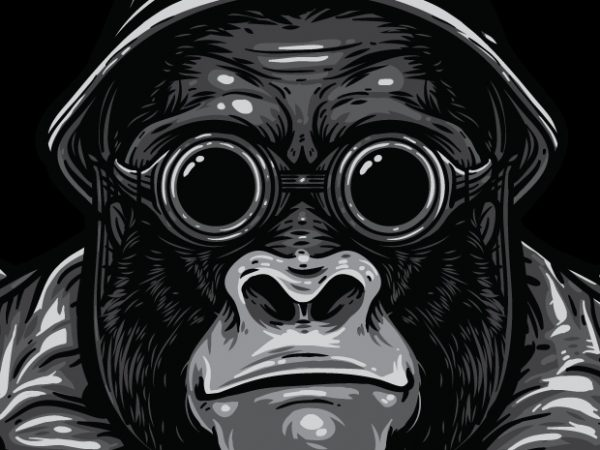 Big Bro – Gorilla Bikers vector t-shirt design for commercial use