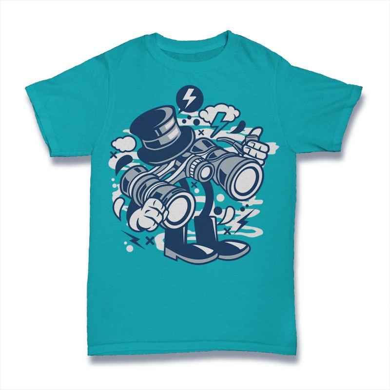 Binocular t shirt designs for teespring
