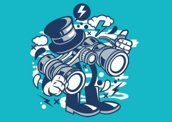 Binocular graphic t-shirt design
