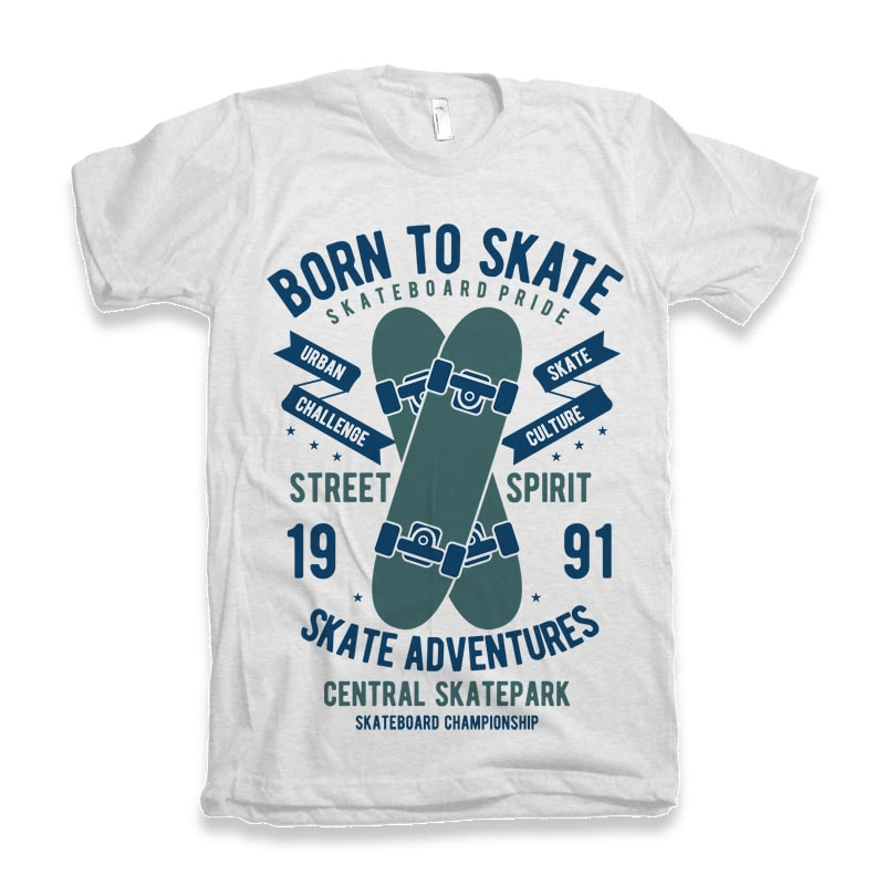 Born To Skate tshirt design buy tshirt design