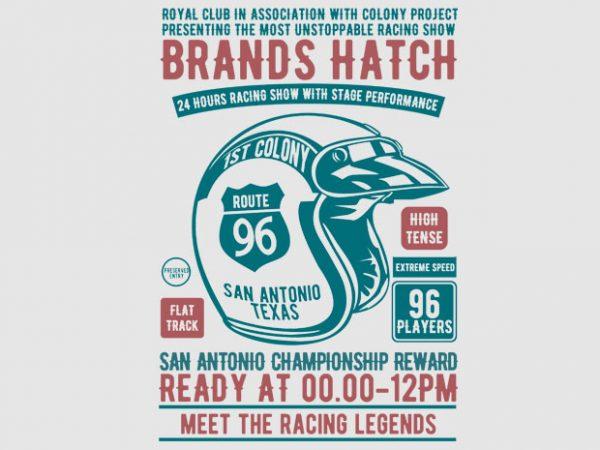 Brands Hatch Racing Tshirt Design
