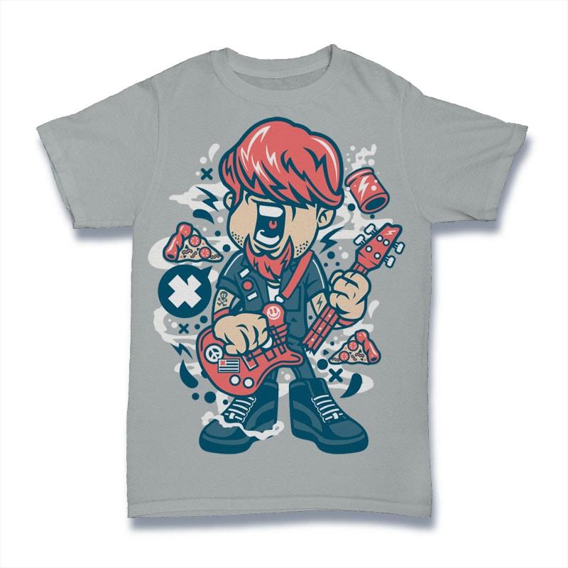 Broken Guitar vector t shirt design