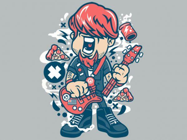 Broken Guitar t shirt template