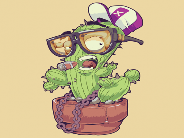 Cactus with Glasses tshirt design