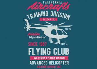 California Aircrafts Tshirt Design
