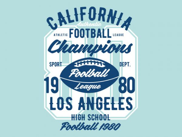 California Football League Tshirt Design