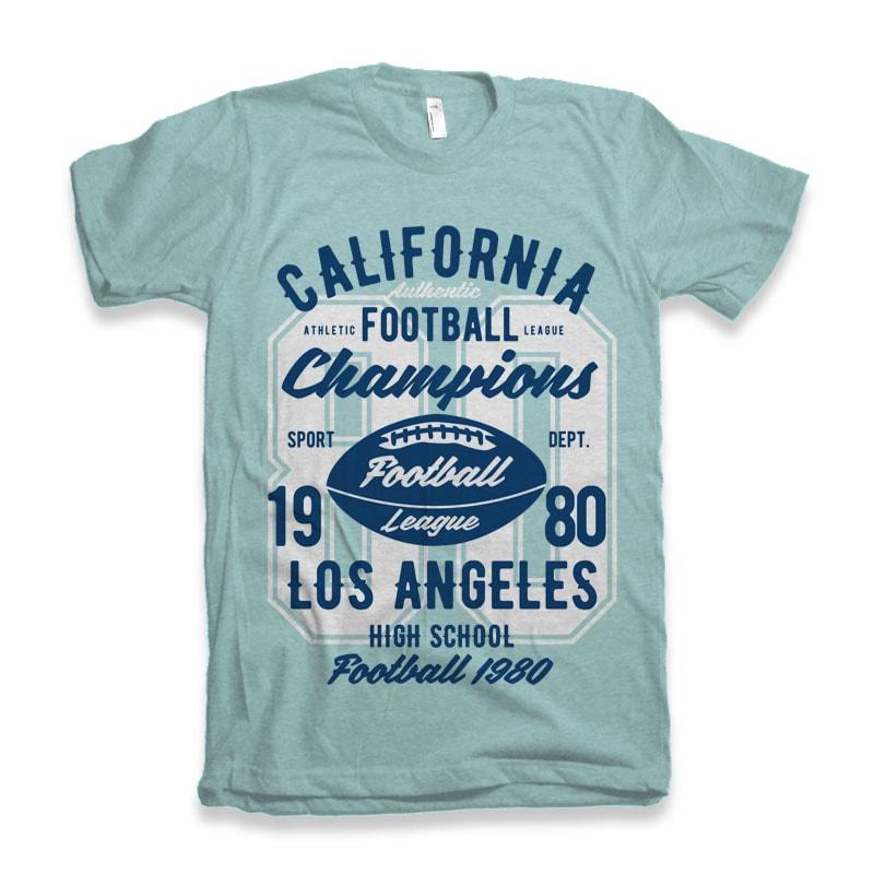California Football League Tshirt Design tshirt design for sale