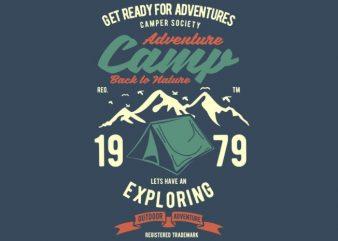 Camp Adventure Tshirt design