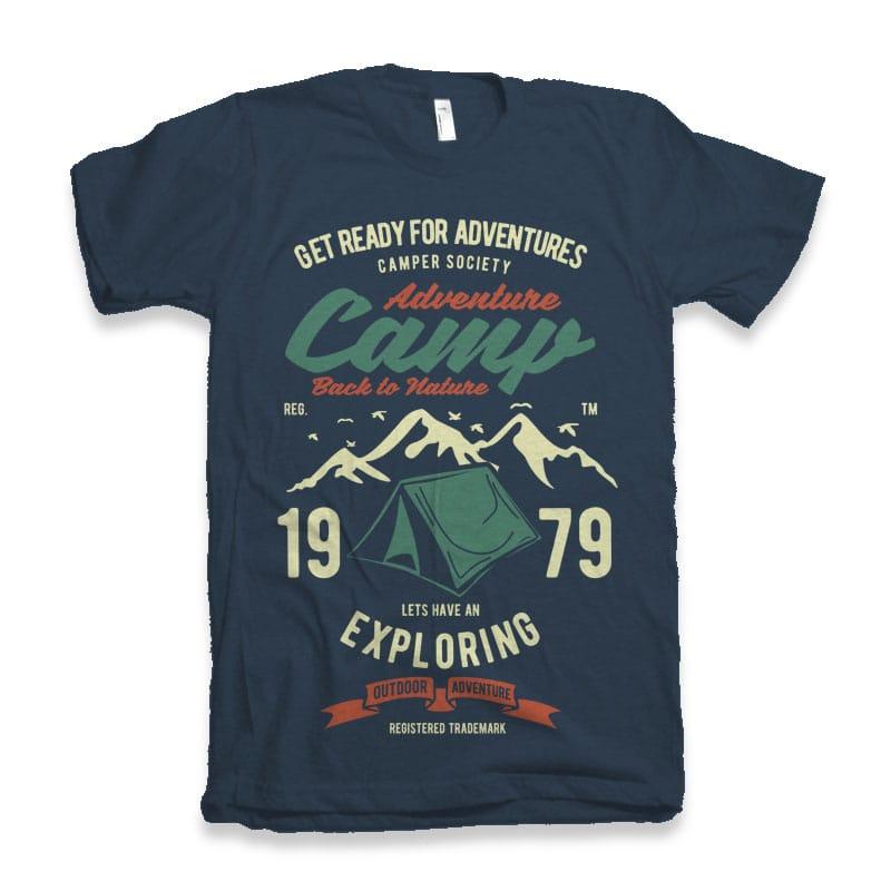 Camp Adventure Tshirt design tshirt-factory.com