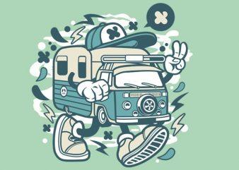 Camper Van graphic t-shirt design