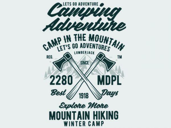 Camping Adventure Tshirt Design