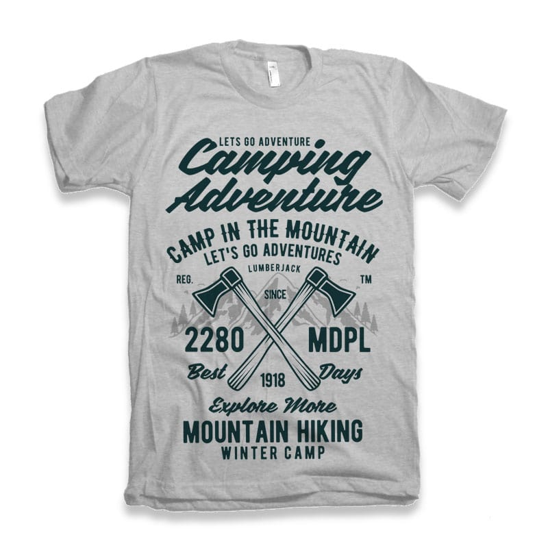Camping Adventure Tshirt Design tshirt-factory.com