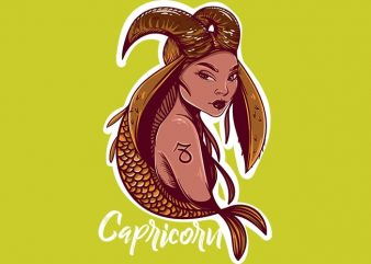 Capricorn commercial use t-shirt design