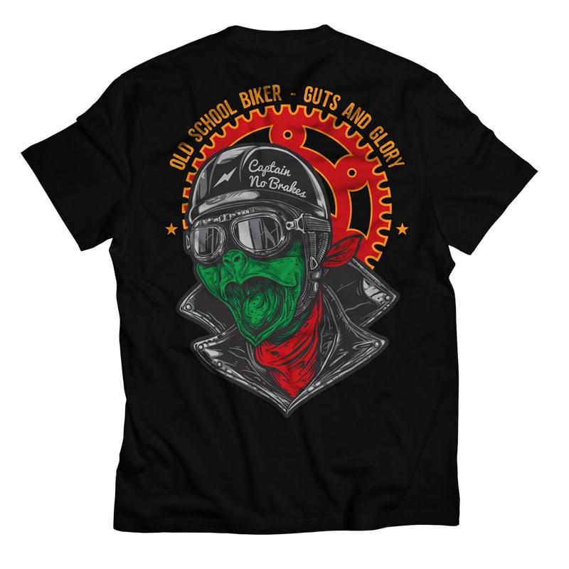 Captain fast turtle biker buy t shirt designs for Make t shirts fast