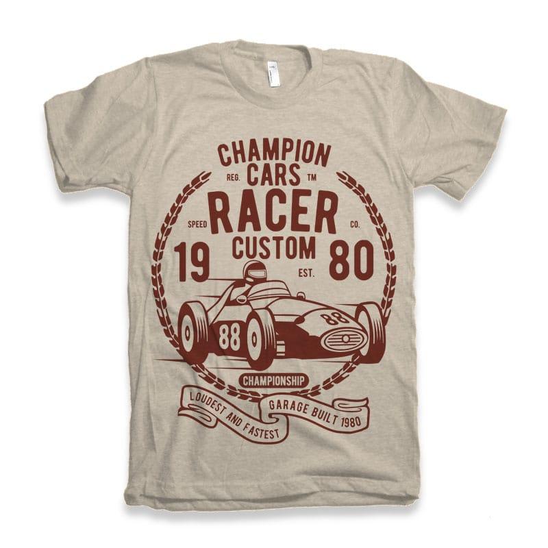 Champion Cars Racer tshirt design tshirt factory