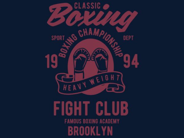 Classic Boxing T-shirt design