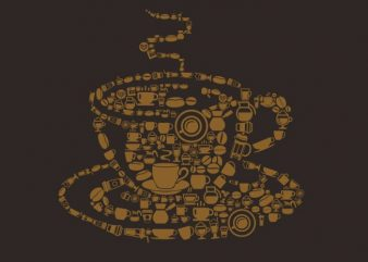 Coffee vector t shirt design artwork