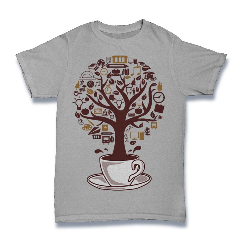 Coffee Tree t shirt designs for printful