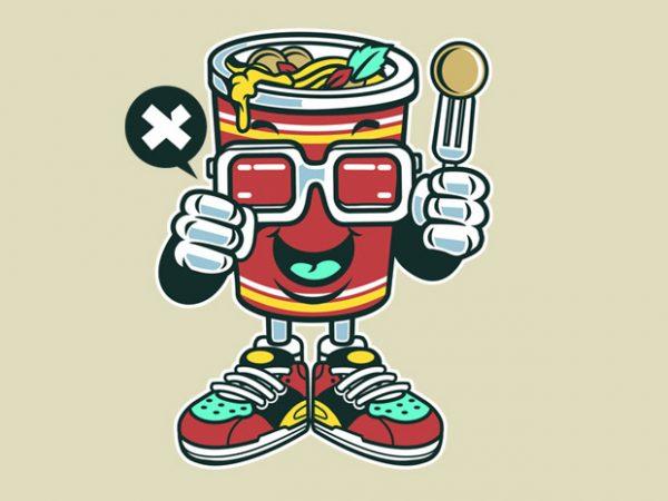 Cup Noodle t shirt vector file
