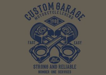 Custom Garage Tshirt design