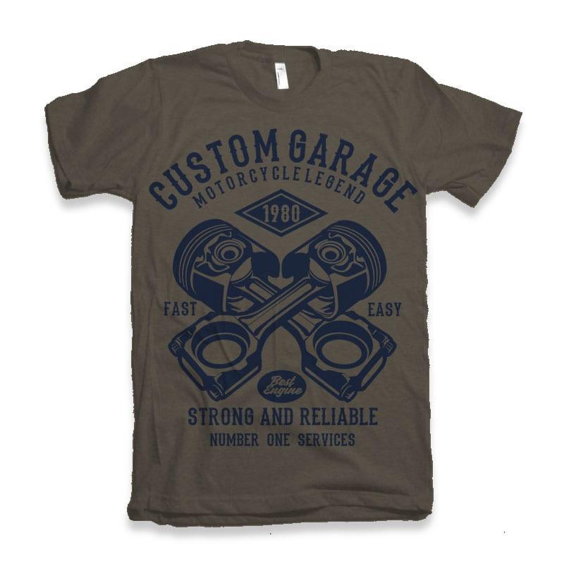 Custom Garage Tshirt design buy t shirt designs artwork