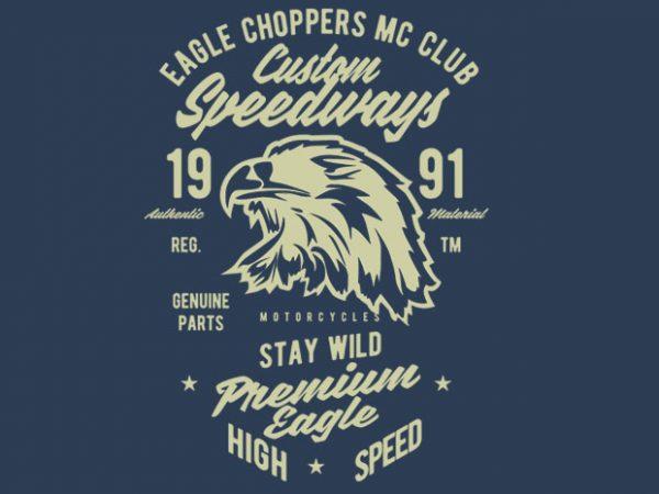 Custom Speedways Premium Eagle design for t shirt