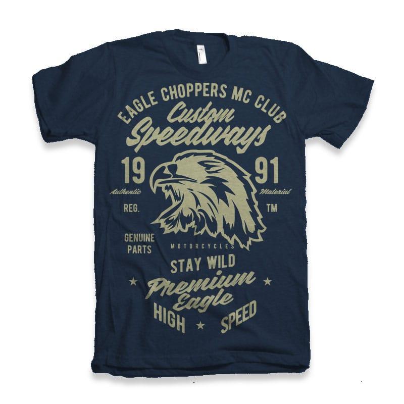 Custom Speedways Premium Eagle tshirt design for sale