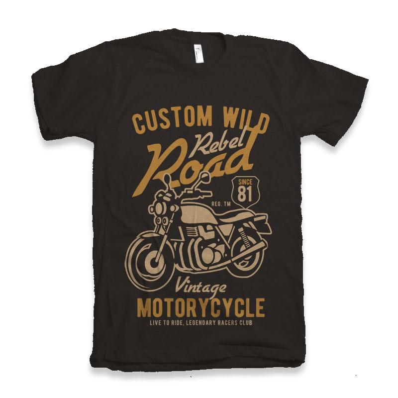 Custom Wild vector t-shirt design t shirt design png
