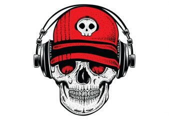 DJ Skull2 buy t shirt design for commercial use