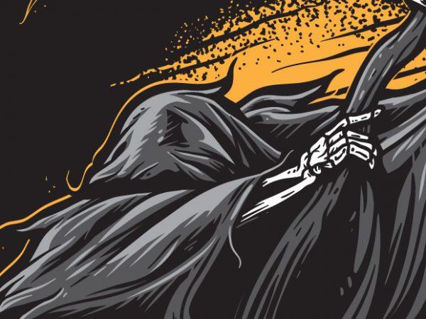 Dabbing Reaper t shirt vector illustration