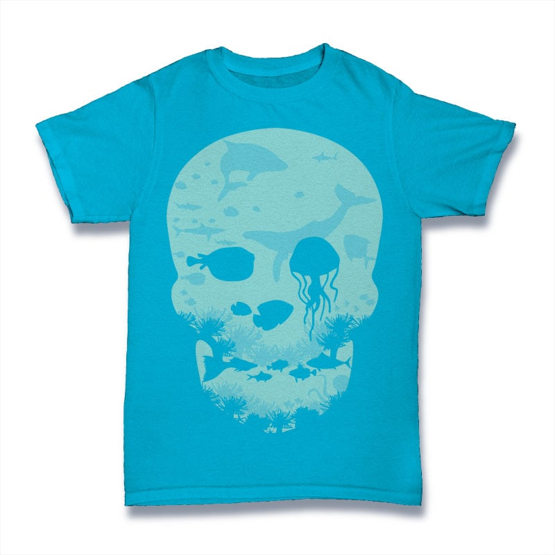 Dead Sea t shirt designs for printful