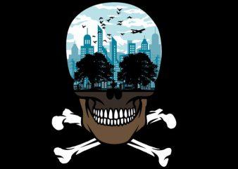 Death City vector t shirt design artwork