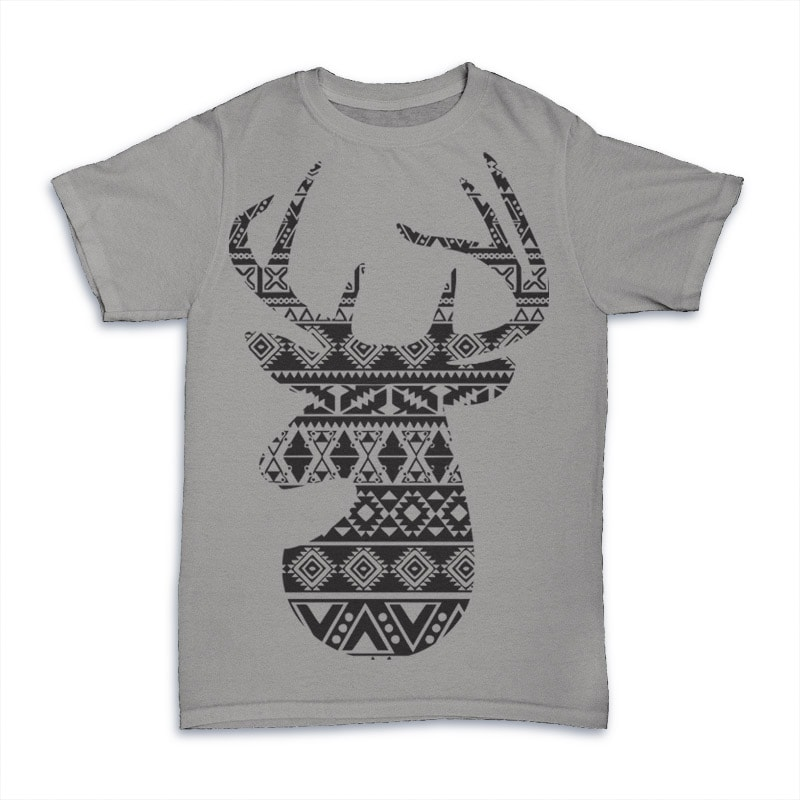 Deer 1 commercial use t shirt designs