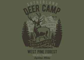 Deer Camp vector t shirt design