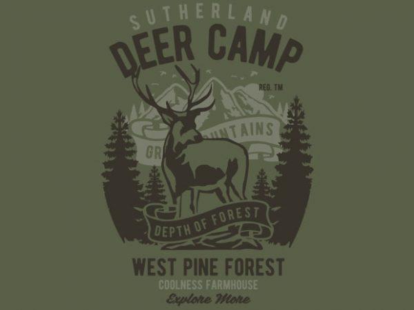 Deer Camp vector t shirt design