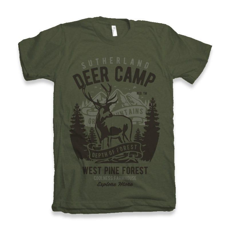 Deer Camp vector t shirt design t shirt design png