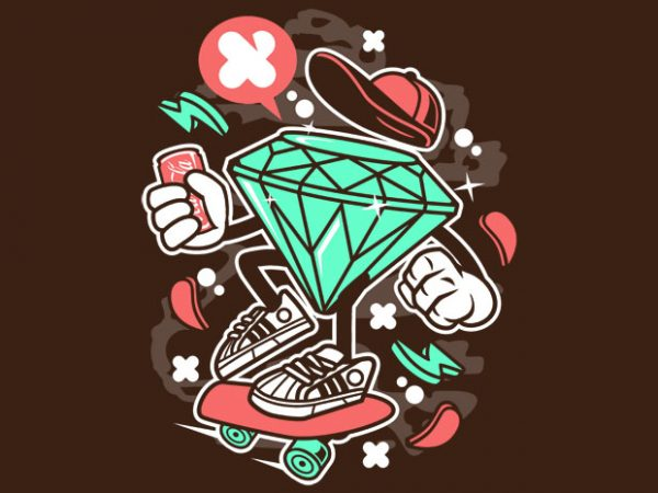 Diamond Skater BTD  600x450 - Diamond Skater buy t shirt design