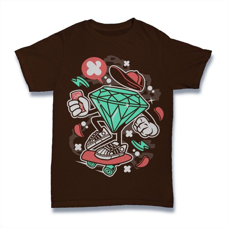 Diamond Skater vector shirt designs